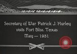 Image of Patrick J Hurley Fort Bliss Texas USA, 1931, second 12 stock footage video 65675062673