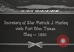 Image of Patrick J Hurley Fort Bliss Texas USA, 1931, second 13 stock footage video 65675062673