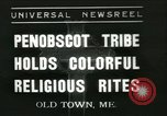 Image of Penobscot tribe Old Town Maine USA, 1937, second 1 stock footage video 65675062688