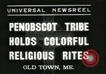 Image of Penobscot tribe Old Town Maine USA, 1937, second 4 stock footage video 65675062688