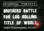 Image of log-rolling championship Port Townsend Washington USA, 1937, second 1 stock footage video 65675062689