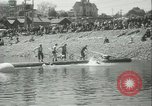 Image of log-rolling championship Port Townsend Washington USA, 1937, second 15 stock footage video 65675062689