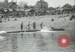Image of log-rolling championship Port Townsend Washington USA, 1937, second 16 stock footage video 65675062689