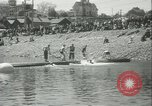 Image of log-rolling championship Port Townsend Washington USA, 1937, second 17 stock footage video 65675062689