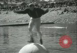 Image of log-rolling championship Port Townsend Washington USA, 1937, second 19 stock footage video 65675062689