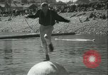 Image of log-rolling championship Port Townsend Washington USA, 1937, second 20 stock footage video 65675062689