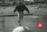 Image of log-rolling championship Port Townsend Washington USA, 1937, second 21 stock footage video 65675062689