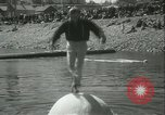 Image of log-rolling championship Port Townsend Washington USA, 1937, second 24 stock footage video 65675062689