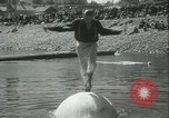 Image of log-rolling championship Port Townsend Washington USA, 1937, second 26 stock footage video 65675062689