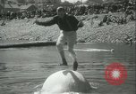 Image of log-rolling championship Port Townsend Washington USA, 1937, second 29 stock footage video 65675062689