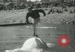 Image of log-rolling championship Port Townsend Washington USA, 1937, second 32 stock footage video 65675062689