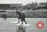 Image of log-rolling championship Port Townsend Washington USA, 1937, second 33 stock footage video 65675062689