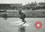 Image of log-rolling championship Port Townsend Washington USA, 1937, second 35 stock footage video 65675062689