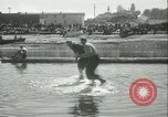 Image of log-rolling championship Port Townsend Washington USA, 1937, second 36 stock footage video 65675062689