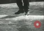 Image of log-rolling championship Port Townsend Washington USA, 1937, second 39 stock footage video 65675062689