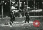 Image of log-rolling championship Port Townsend Washington USA, 1937, second 45 stock footage video 65675062689