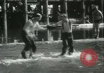 Image of log-rolling championship Port Townsend Washington USA, 1937, second 46 stock footage video 65675062689
