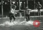Image of log-rolling championship Port Townsend Washington USA, 1937, second 47 stock footage video 65675062689