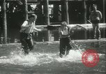 Image of log-rolling championship Port Townsend Washington USA, 1937, second 48 stock footage video 65675062689