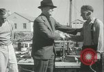 Image of log-rolling championship Port Townsend Washington USA, 1937, second 58 stock footage video 65675062689