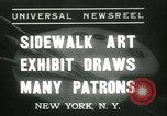 Image of painting exhibition New York City USA, 1937, second 1 stock footage video 65675062690