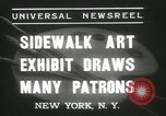Image of painting exhibition New York City USA, 1937, second 2 stock footage video 65675062690