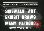 Image of painting exhibition New York City USA, 1937, second 3 stock footage video 65675062690