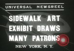 Image of painting exhibition New York City USA, 1937, second 4 stock footage video 65675062690