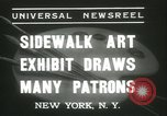 Image of painting exhibition New York City USA, 1937, second 7 stock footage video 65675062690