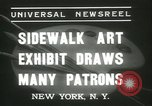 Image of painting exhibition New York City USA, 1937, second 8 stock footage video 65675062690