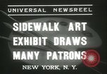 Image of painting exhibition New York City USA, 1937, second 9 stock footage video 65675062690