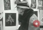 Image of painting exhibition New York City USA, 1937, second 47 stock footage video 65675062690