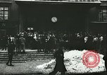 Image of Norwegian civilians board trains for ski trip Oslo Norway, 1942, second 2 stock footage video 65675062703