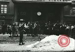 Image of Norwegian civilians board trains for ski trip Oslo Norway, 1942, second 4 stock footage video 65675062703