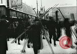 Image of Norwegian civilians board trains for ski trip Oslo Norway, 1942, second 21 stock footage video 65675062703