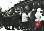 Image of Norwegian civilians board trains for ski trip Oslo Norway, 1942, second 24 stock footage video 65675062703