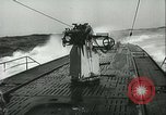Image of German submarine on patrol Atlantic Ocean, 1942, second 21 stock footage video 65675062714
