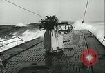 Image of German submarine on patrol Atlantic Ocean, 1942, second 22 stock footage video 65675062714