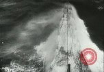 Image of German submarine on patrol Atlantic Ocean, 1942, second 32 stock footage video 65675062714