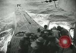 Image of German submarine on patrol Atlantic Ocean, 1942, second 53 stock footage video 65675062714