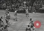 Image of basketball match New York United States USA, 1950, second 37 stock footage video 65675062747