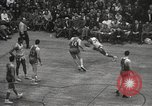 Image of basketball match New York United States USA, 1950, second 49 stock footage video 65675062747