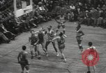 Image of basketball match New York United States USA, 1950, second 61 stock footage video 65675062747