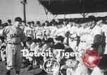 Image of Detroit Tigers baseball team Florida United States USA, 1950, second 1 stock footage video 65675062754
