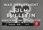 Image of U.S. Army movies for soldiers during World War II United States USA, 1943, second 8 stock footage video 65675062805