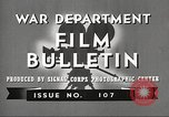 Image of U.S. Army movies for soldiers during World War II United States USA, 1943, second 11 stock footage video 65675062805