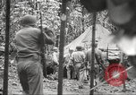 Image of U.S. troops in combat zones watch movies in World War II Pacific theater, 1943, second 46 stock footage video 65675062808