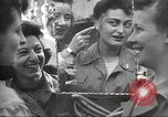 Image of American service personnel watch movies during World War II Naples Italy, 1943, second 12 stock footage video 65675062809