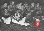 Image of U.S. Service personnel watch movies during World War II Pacific Theater, 1943, second 51 stock footage video 65675062810