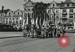 Image of United States soldiers Pilsen Czechoslovakia, 1945, second 61 stock footage video 65675062816
